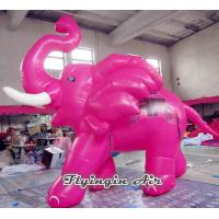 Quality Customized Pink Cartoon Inflatable Elephant with CE Blower for Kids for sale