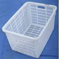 Quality Plastic net crate using fresh fruit , fish crate for sale