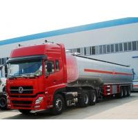 Quality dongfeng tuel tanker semir trailer with tractor , 45m3 fuel tanker truck for sale