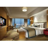 Quality Fashion Double Bed Commercial Hotel Bedroom Furniture Shiny Finished for sale