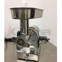 China Beef  Electric Meat Grinder With Sausage Stuffer Foot Pedal Control 3 Grinding Plates on sale