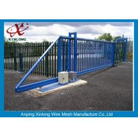 Quality Weather Proof Automatic Fence Gate , Sliding Metal Gates Corrosion Protection for sale