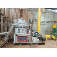 High capacity biomass pellet production line compressed