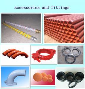 Quality concrete pump parts, including concrete pump pipe, rubber hose, elbow, cleaning ball, etc for sale