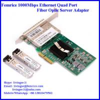 Quality 1000Mbps Quad Port Server Adapter, IEEE802.3 Network (1000BASE-SX,1000BASE-LX,1000BASE-ZX) for sale