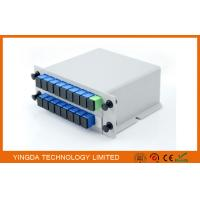 Quality GPON Network PLC Optical Fiber LGX Splitter Aluminum 2 Slot Cassette Chassis for sale