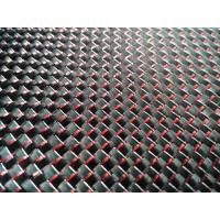 China Color carbon fiber fabric with red metalic wire on sale