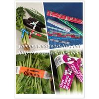 Quality paper wired twist ties for vegetable for sale