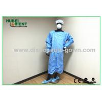 Quality Waterproof Blue Medical Disposable Isolation Gown Breathable 50gsm for sale