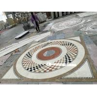 Buy Commercial Mosaic Floor Medallions , Modern Design Waterjet Floor Medallions at wholesale prices