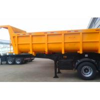 Quality U Shape Semi Dump Trailers 40 Tons Payload 2 Axle Mechanical Spring Suspension for sale