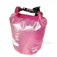 Quality 5L  Light-weight Outdoor Waterproof Dry Bags with Silk-screen Print Pink for sale