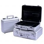 China MS-M-01 S Anodize Silver Aluminum Briefcase Aluminum Attache Tool Case for sale
