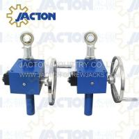 Quality manual right angle jack screw, hand wheel with locking gear jack for sale