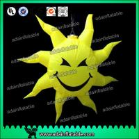 Quality Party Hanging Decoration Inflatable Smile Sun Customizd Sun Sphere for sale