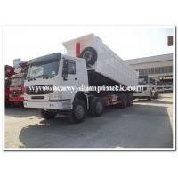 371Hp Sinotruck HOWO Truck Left Hand Driving Type  8X4 with cargo body 30 CBM