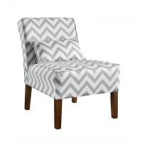 Quality Patterned Upholstered Accent Chairs Tight Back , Low Back Living Room Chairs for sale