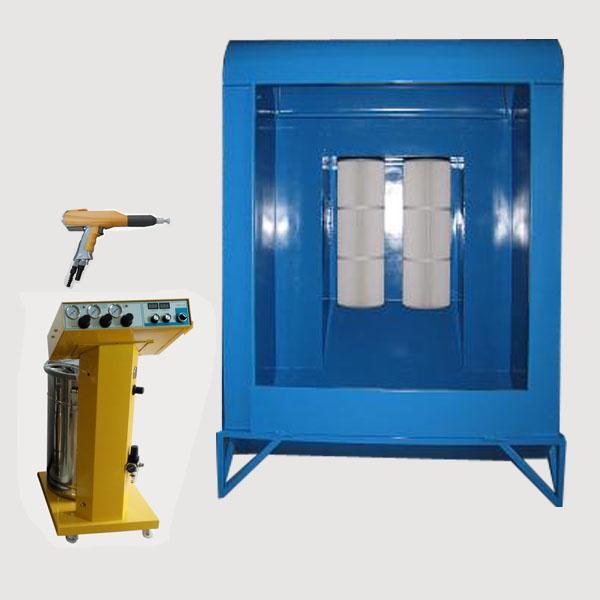 Manual powder coating spray booth small powder spray booth for Powder coating paint booth