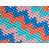 China 2.5mm square rhinestone plastic resin diamond mesh net sticker 24*40cm on sale