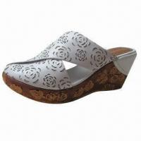Quality Ladies wedge shoes, genuine leather upper and new style outsole for sale