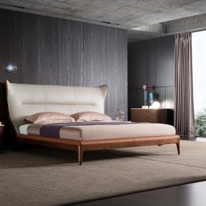China King Size Platform Leather Back Bed Frame on sale