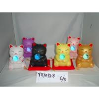 Quality Golden Ceramic Cat Piggy Bank for sale