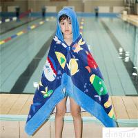 Buy cheap Hooded Bath Towel for Kids Under Age 7 Bathrobe Beach Hooded Poncho Towel from wholesalers