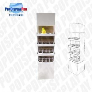 Quality 4 Shelf 1 Poster Cardboard Floor Display Stand , Floor Display Racks With Dividers for sale