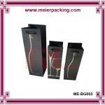 Quality Paper Wine Bag/Printed Wine Packing Paper Bag/Kraft Wine Bottle Paper Bags ME-BG003 for sale