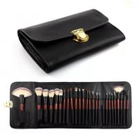 Double Bags 26 Cosmetic Makeup Brush Set Animal Hair Wood Handle Material for sale