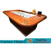 Quality Standard Casino Sic Bo Luxury Casino Craps Poker Table / Electronic Poker Table for sale