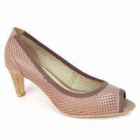 Quality Fashionable Peep-toe Shoe, Made of Genuine Leather, Outsole made of Rubber for sale