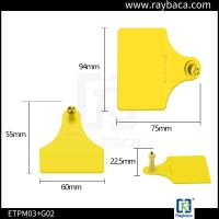 Quality Livestock Farm Cattle Ear Tags Female And Male Two Pieces RBC-ETP23 for sale