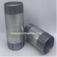 Quality Standard Size  Galvanized Steel Pipe Nipple  Male Thread Equal Shape for sale