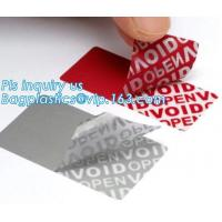 China Tamper Evident Honeycomb Void Security Label on sale