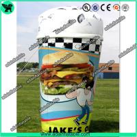 Quality Customized Advertising Inflatable Icecream Cup Replica Model for sale