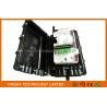 Black PC Splitter Distribution Box Fiber Optic Closure With Six Ports