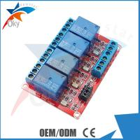 Quality Lightweight Four Channel Relay Module For Arduino , Red Board for sale