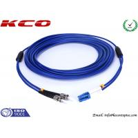 Quality Anti Rodent Fiber Optic Patch Cord Single Mode, ST To LC Armored Fiber Patch Cable for sale