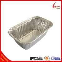Quality Small Household Oblong Aluminium Foil Cake Tray for sale