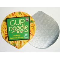 China die cut and embossed aluminum foil lidding for instant noodle cup, instant noodle sealing lids on sale