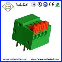 Quality F50-02-2.54 Pitch 2.54mm Screwless/Spring Clamp PCB Terminal Blocks for sale