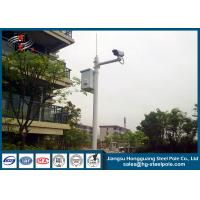 Quality H10m Hot Dip Galvanized CCTV Camera Pole / Surveillance Camera Poles With Painting Craft for sale