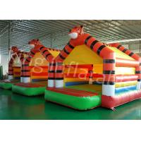 China 0.55mm PVC Tarpaulin Tiger Inflatable Jumping Castle For Outdoor Entertainment on sale