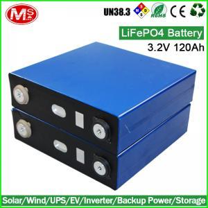 Quality 3.2V 120Ah LiFePO4 Battery cell for 12V 24V solar power battery storage for sale