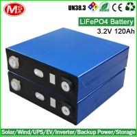 Quality LiFePO4 battery 3.2V 120AH rechargeable lithium ion battery cell for Solar home energy storage for sale