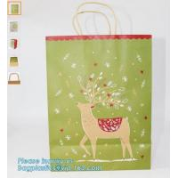 China Luxury Black Paper Gift Bags Paper Carrier Bag Party Bag with RibbonHandles,Luxury Paper Carrier Bag Wholesale Kraft Pap on sale