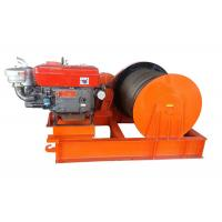 Quality Compact 5T Variable Speed Diesel Engine Power Winch For Cable Pulling for sale
