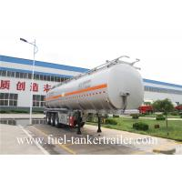 Buy cheap 60m3 Fuel Tanker Trailer tri - axle tank semi trailer 60000 liter oil tank from Wholesalers