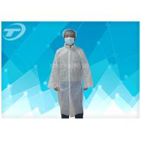 Quality PE Disposable Visitor Coats By Polyethylene Fabric CE Certificated for sale